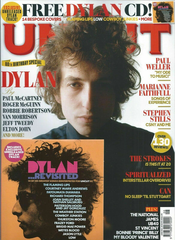 UK Uncut Magazine June 2021: BOB DYLAN + CD PAUL McCARTNEY Elton John PAUL WELLER