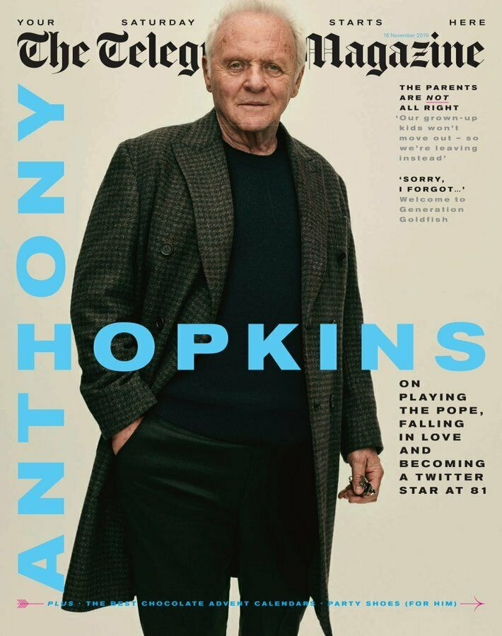 (UK) TELEGRAPH Magazine November 2019: ANTHONY HOPKINS PHOTO COVER INTERVIEW