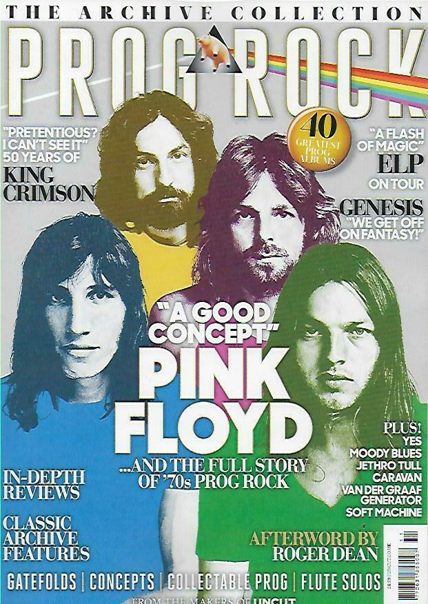The Archive Collection magazine Nov 2019 Prog Rock Pink Floyd King Crimson Genesis