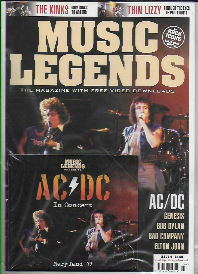MUSIC LEGENDS MAGAZINE - ISSUE 4 AC/DC + In Concert CD