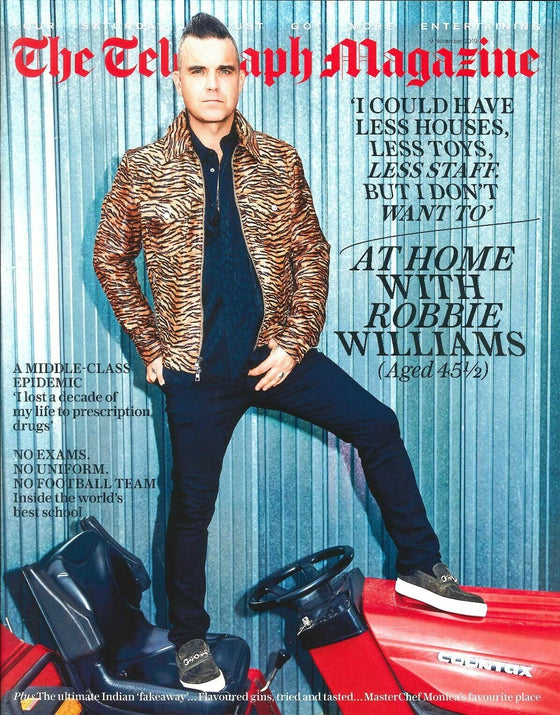 UK Telegraph Magazine November 2019: ROBBIE WILLIAMS COVER & FEATURE Take That