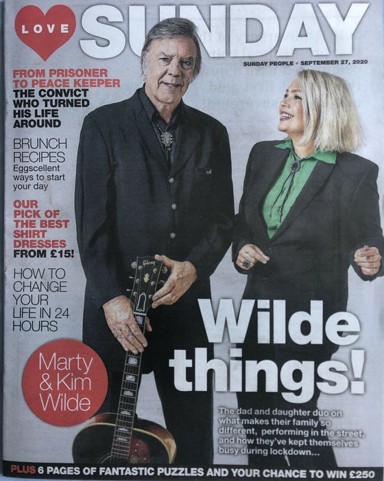 Kim Wilde Marty Wilde UK Love Sunday Magazine 27/09/20