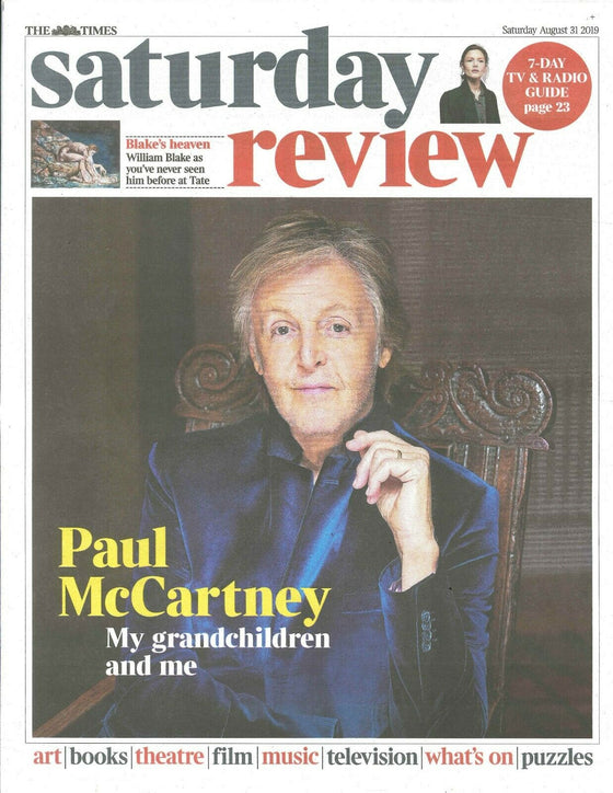 UK Times Review August 2019: PAUL MCCARTNEY The Beatles COVER & FEATURE