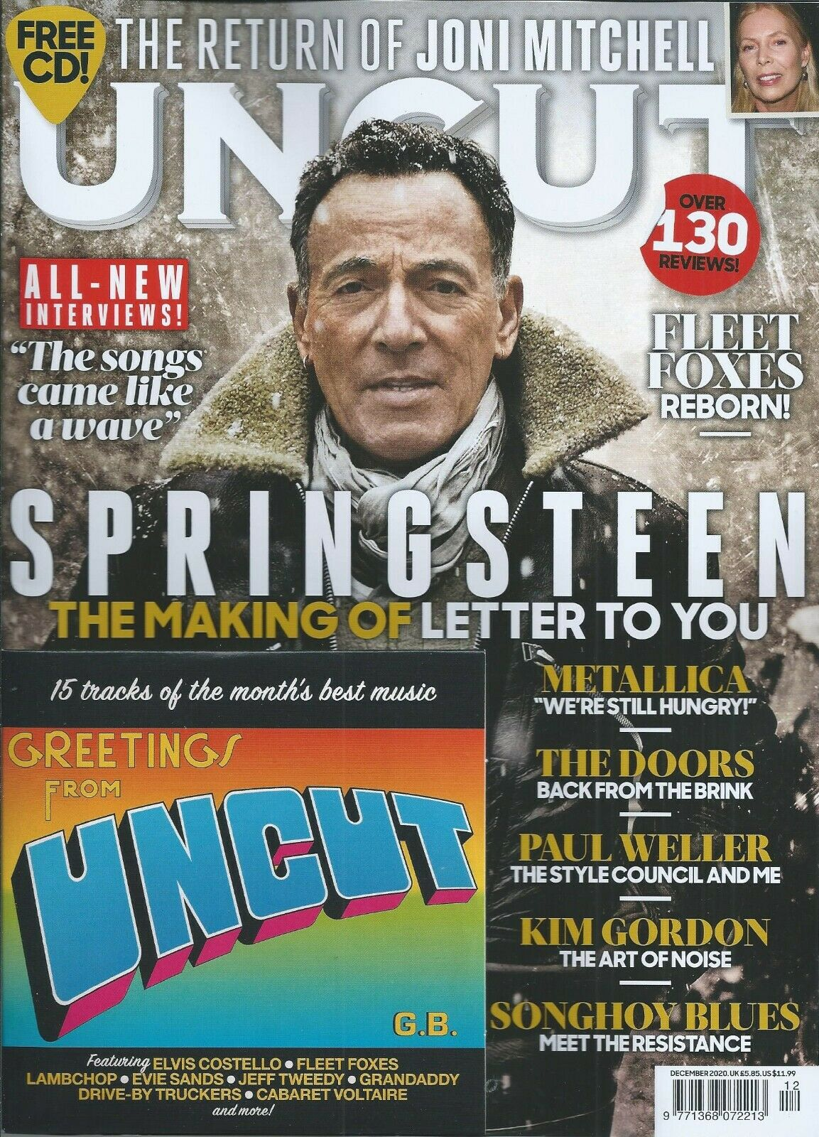 UK Uncut Magazine December 2020: BRUCE SPRINGSTEEN - The Making of Letter to You