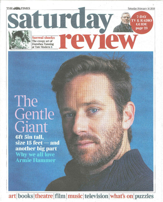 UK Times Review February 2019: ARMIE HAMMER COVER & FEATURE