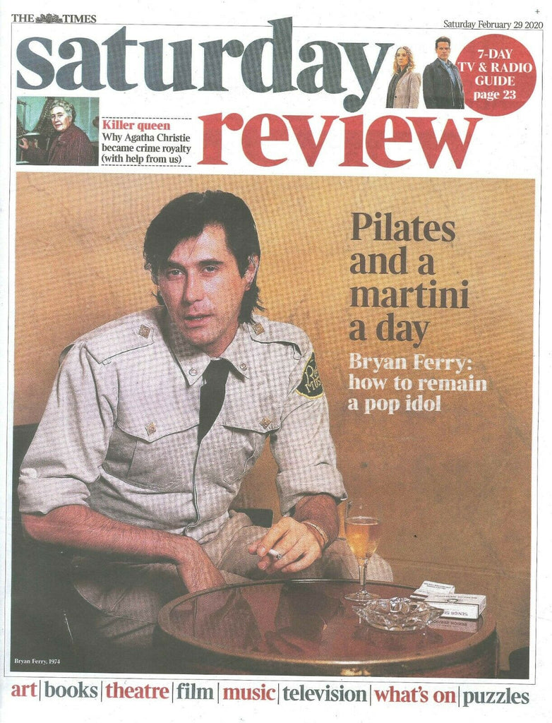 UK Times Review February 2020: BRYAN FERRY (Roxy Music) Interview