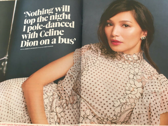 UK OBSERVER Magazine 28th July 2019: Gemma Chan Cover Interview Magazine
