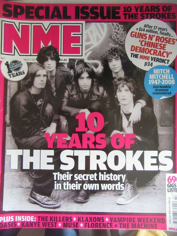 NME magazine 10 Years Of The Strokes Special from Nov 2008