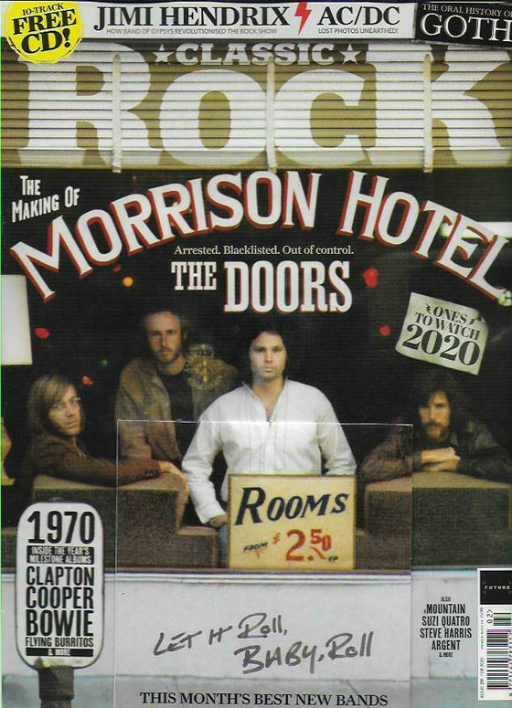 CLASSIC ROCK Magazine February 2020: The Doors Jim Morrison - The Making Of Morrison Hotel
