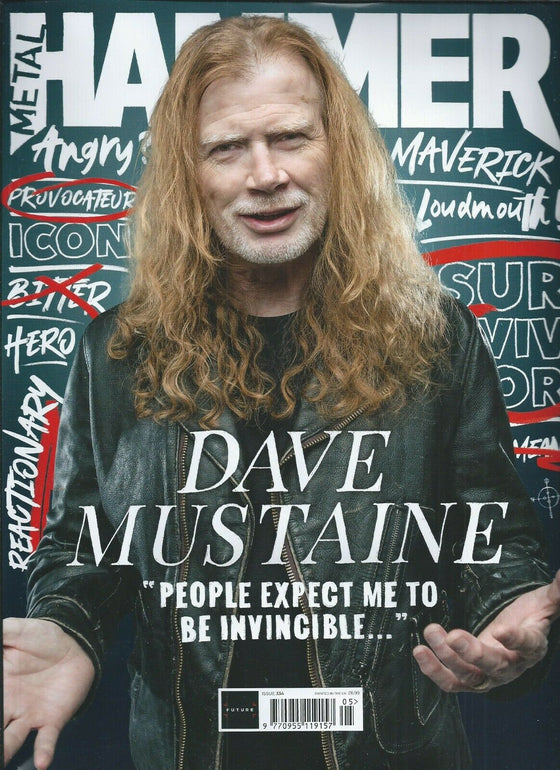 UK Metal Hammer Magazine May 2020: MEGADETH Dave Mustaine + Free Gifts