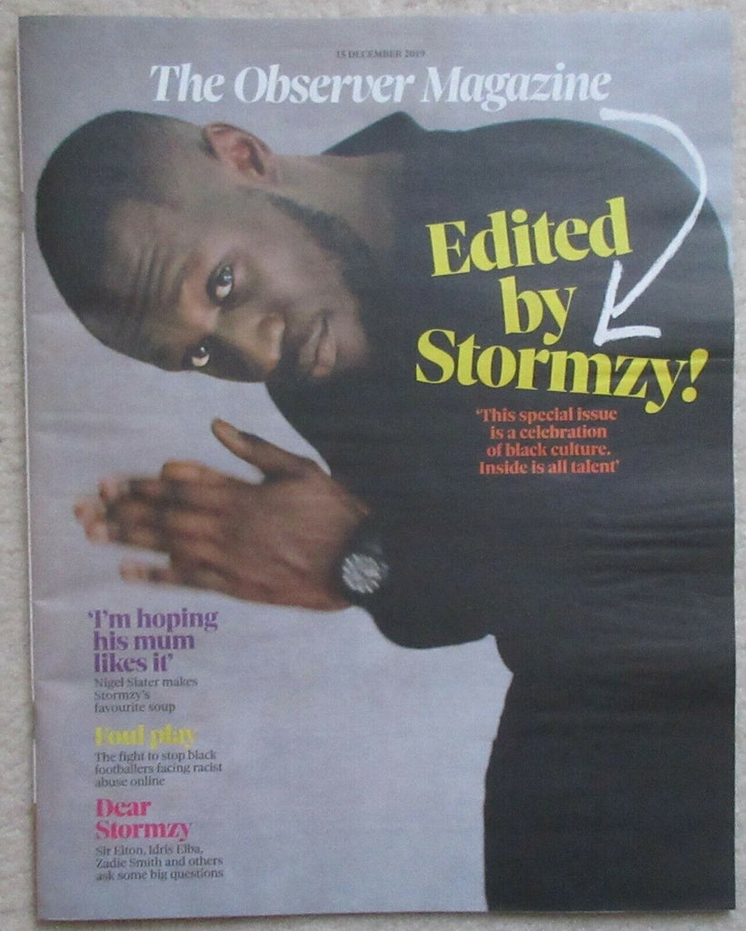 New UK The Observer Magazine Edited By Stormzy Cover - by Sir Elton John, Judi Dench