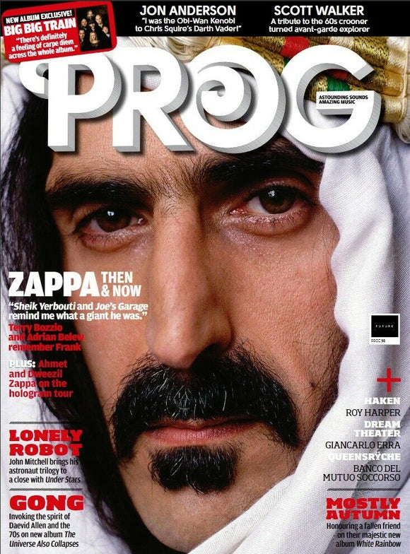 UK PROG Magazine June 2019: FRANK ZAPPA Big Big Train JON ANDERSON Scott Walker