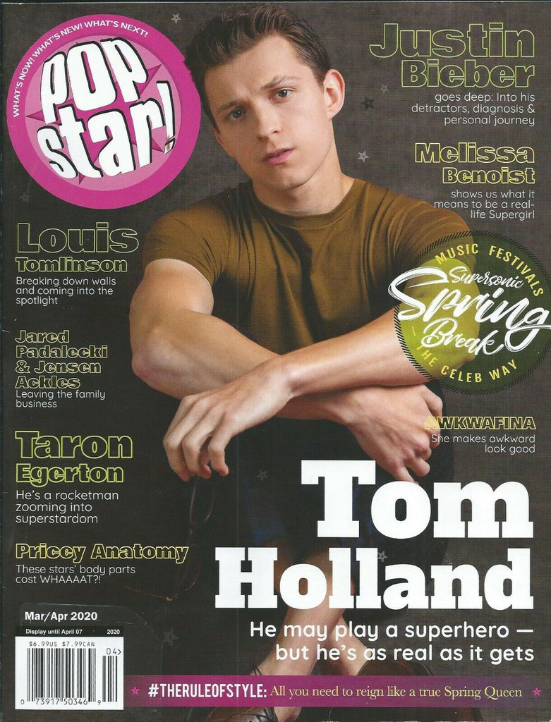 Popstar! Magazine March 2020: TOM HOLLAND Louis Tomlinson TARON EGERTON