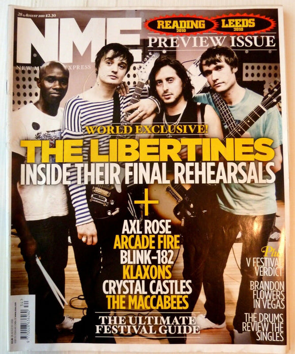 NME Magazine 28 August 2010 The Libertines