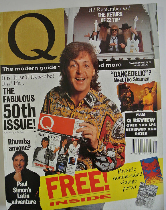 Q MAGAZINE ISSUE 50 NOVEMBER 1990 PAUL MCCARTNEY THE BEATLES