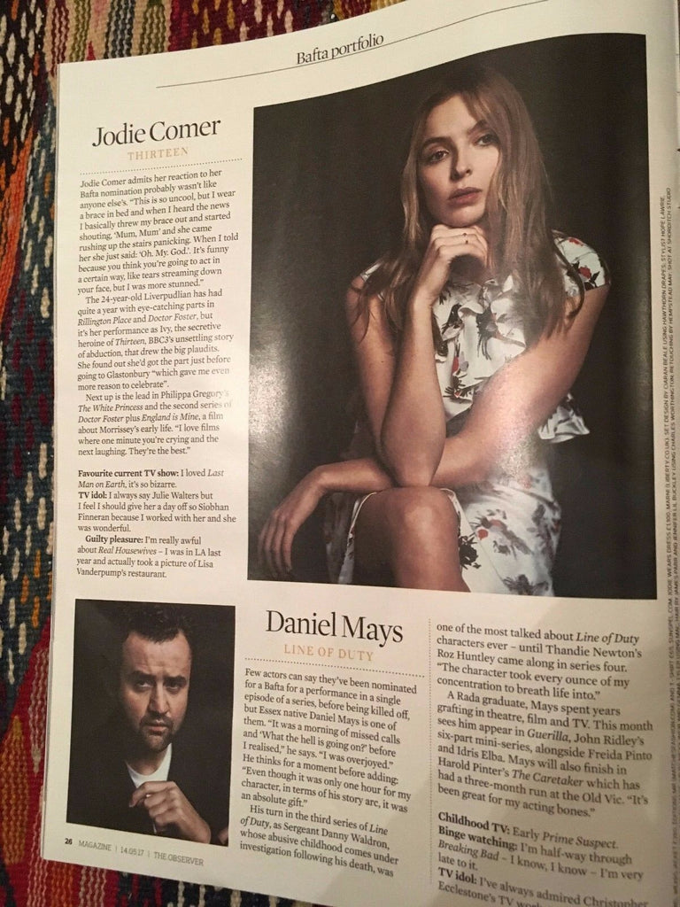 Observer Magazine May 2017 Phoebe Waller-Bridge Jodie Comer Daniel Mays