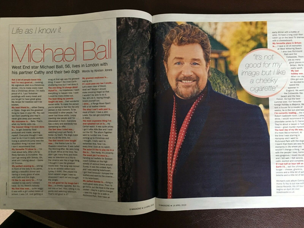 UK S EXPRESS 04/2019: MICHAEL BALL Nell McAndrew RONALD BELL Jason Flemyng