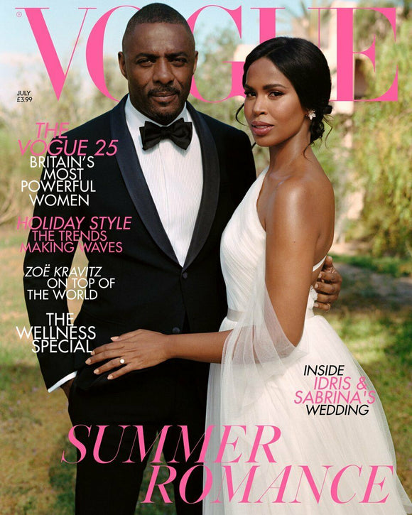IDRIS ELBA - VOGUE MAGAZINE UK JULY 2019 BRITISH EDITION WEDDING EXCLUSIVE NEW