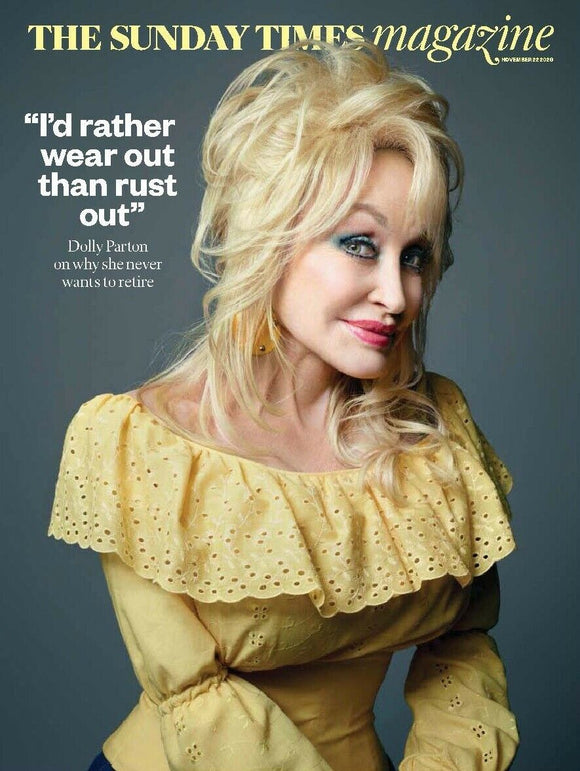 Sunday Times Magazine November 2020: DOLLY PARTON Cover & Interview