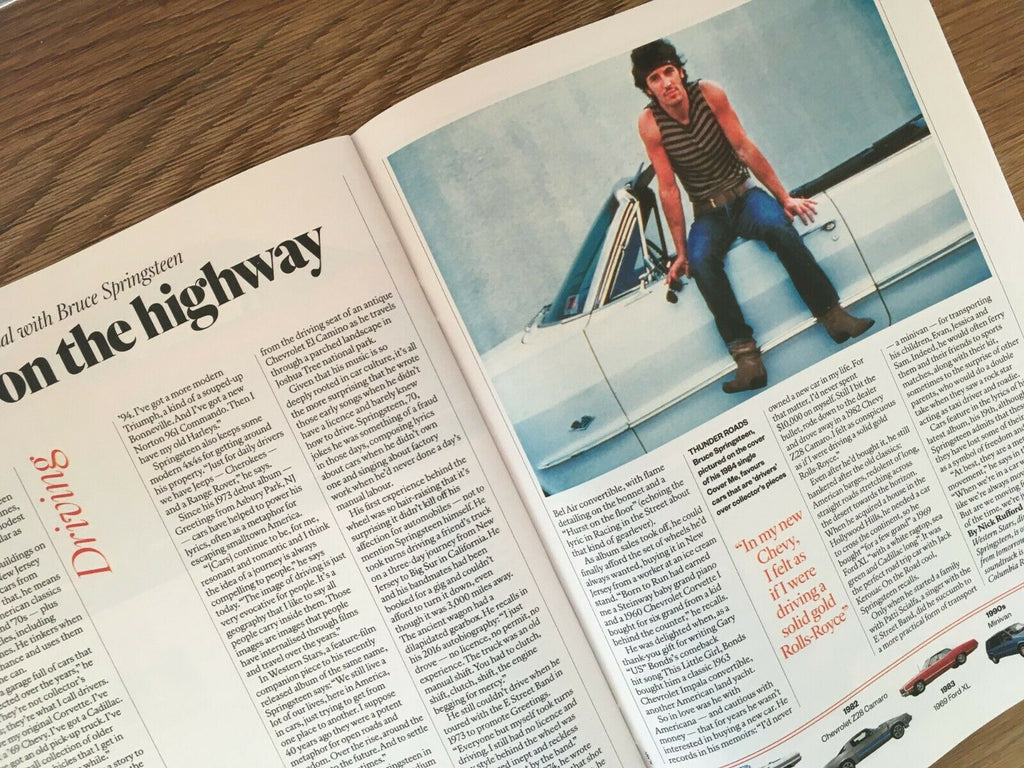 SUNDAY TIMES magazine 27 October 2019 BRUCE SPRINGSTEEN Motoring Interview