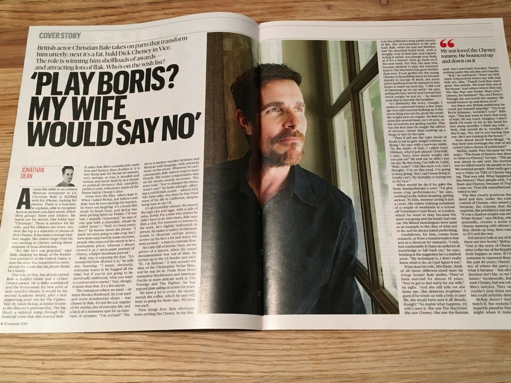 UK Culture Magazine JAN 2019: CHRISTIAN BALE James Blake BETTE DAVIS Tim Roth