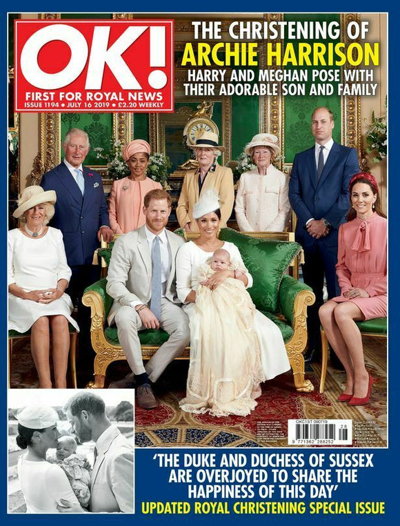 OK! Magazine July 2019: ROYAL BABY ARCHIE CHRISTENING SOUVENIR MEGHAN MARKLE