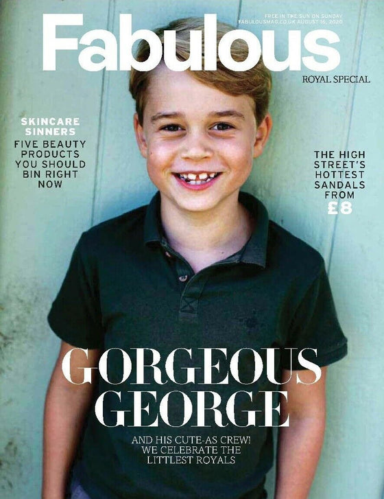 UK Fabulous Magazine Aug 2020: PRINCE GEORGE Kate Middleton PRINCESS CHARLOTTE