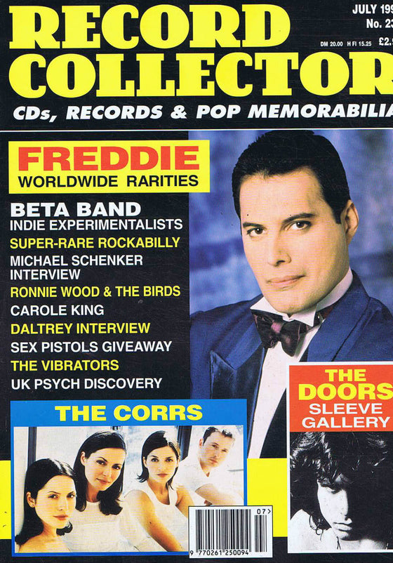 RECORD COLLECTOR MAGAZINE - Issue 239 July 1999 - Freddie Mercury (Queen)