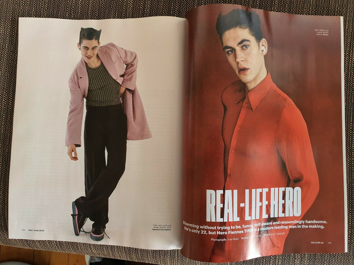 GQ Australia Magazine May/June 2020 Hero Fiennes Tiffin