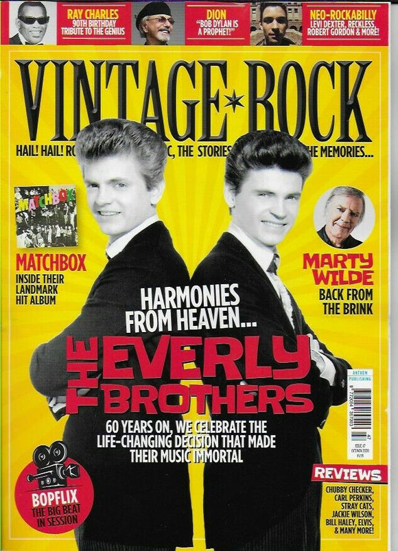 Vintage Rock Magazine #47 (October 2020) THE EVERLY BROTHERS COVER FEATURE