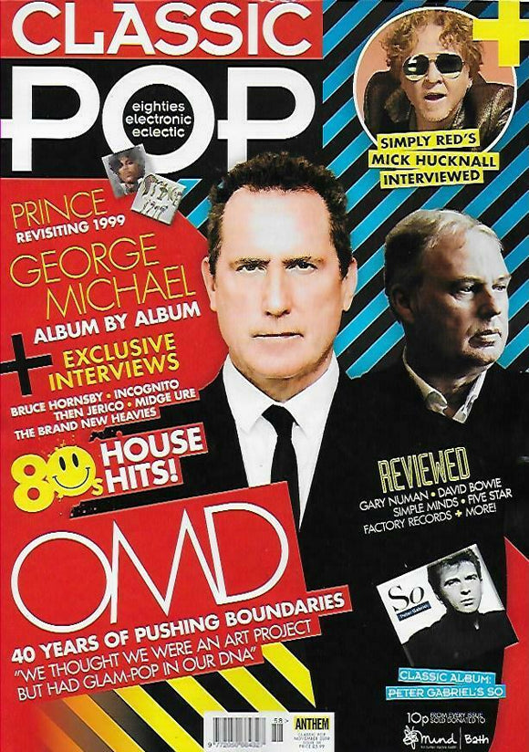Classic Pop #58: November 2019: OMD Mick Hucknall GEORGE MICHAEL Prince