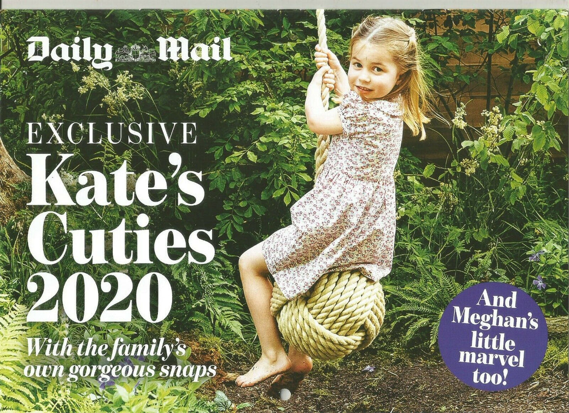 PRINCESS KATE MIDDLETON'S ROYAL CUTIES 2020 UK CALENDAR: Prince George CHARLOTTE