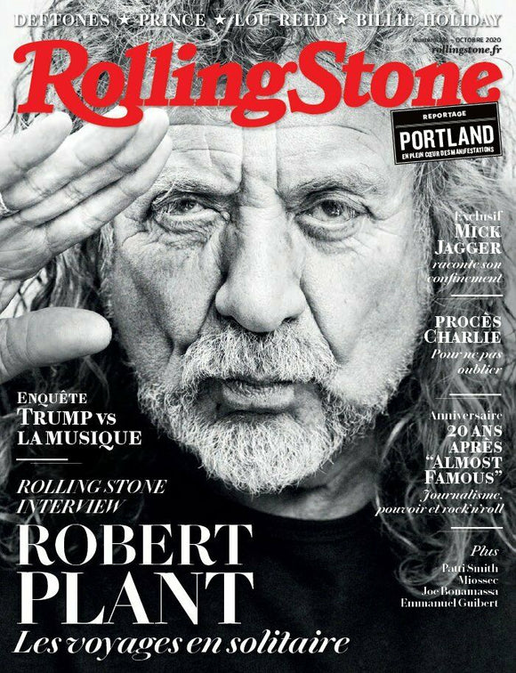 ROBERT PLANT ~ PRINCE ~ MICK JAGGER - LOU REED ~ ROLLING STONE ~ OCTOBRE 2020