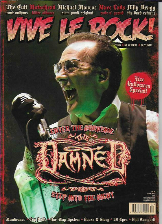 VIVE LE ROCK MAGAZINE -ISSUE 67 THE DAMNED COVER STORY