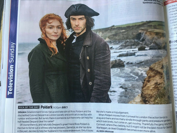 Radio Times Magazine 20 July 2019: Vincent Regan Poldark Gemma Chan Kate Winslet