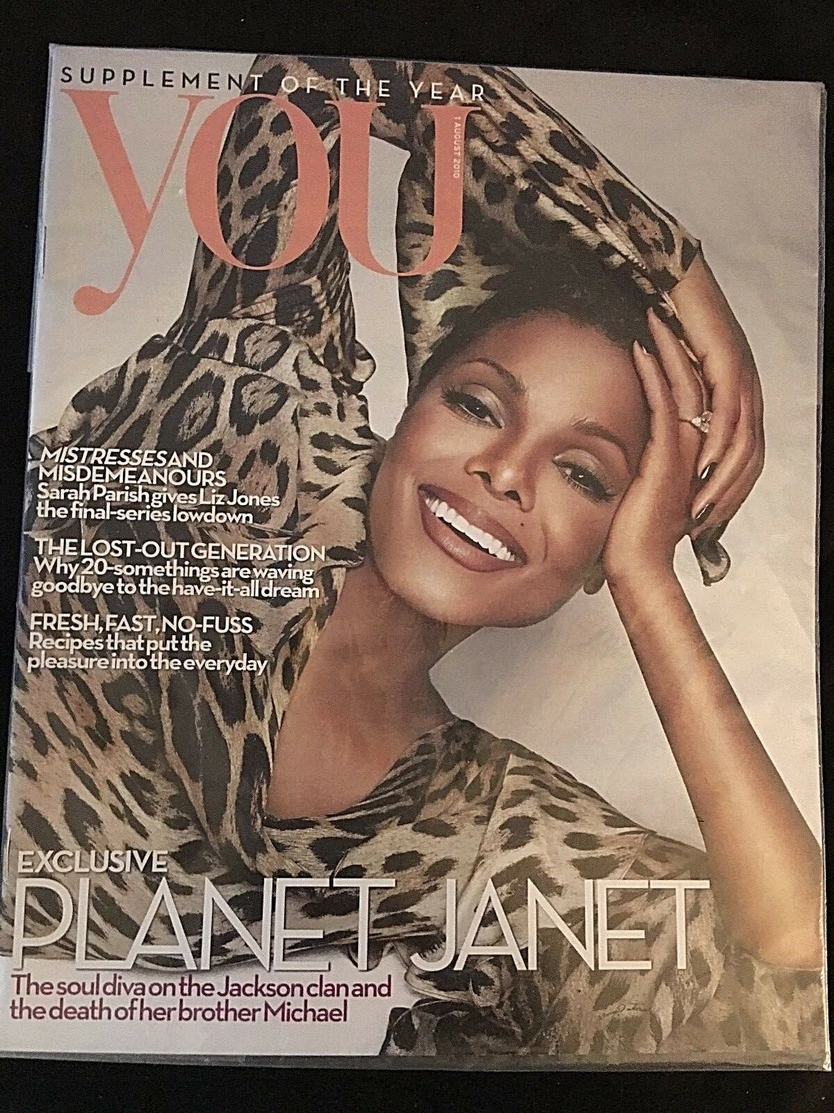 UK JANET JACKSON COVER STORY AUG  1 2010 YOU MAGAZINE