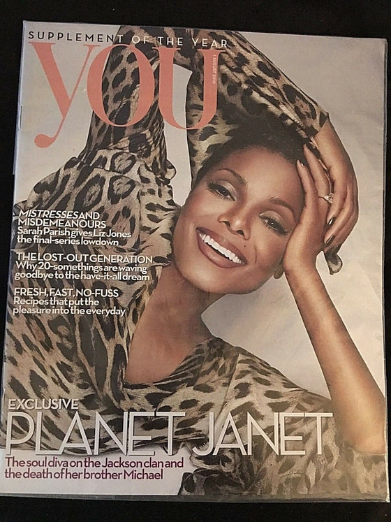 UK JANET JACKSON COVER STORY AUG. 1 2010 YOU MAGAZINE
