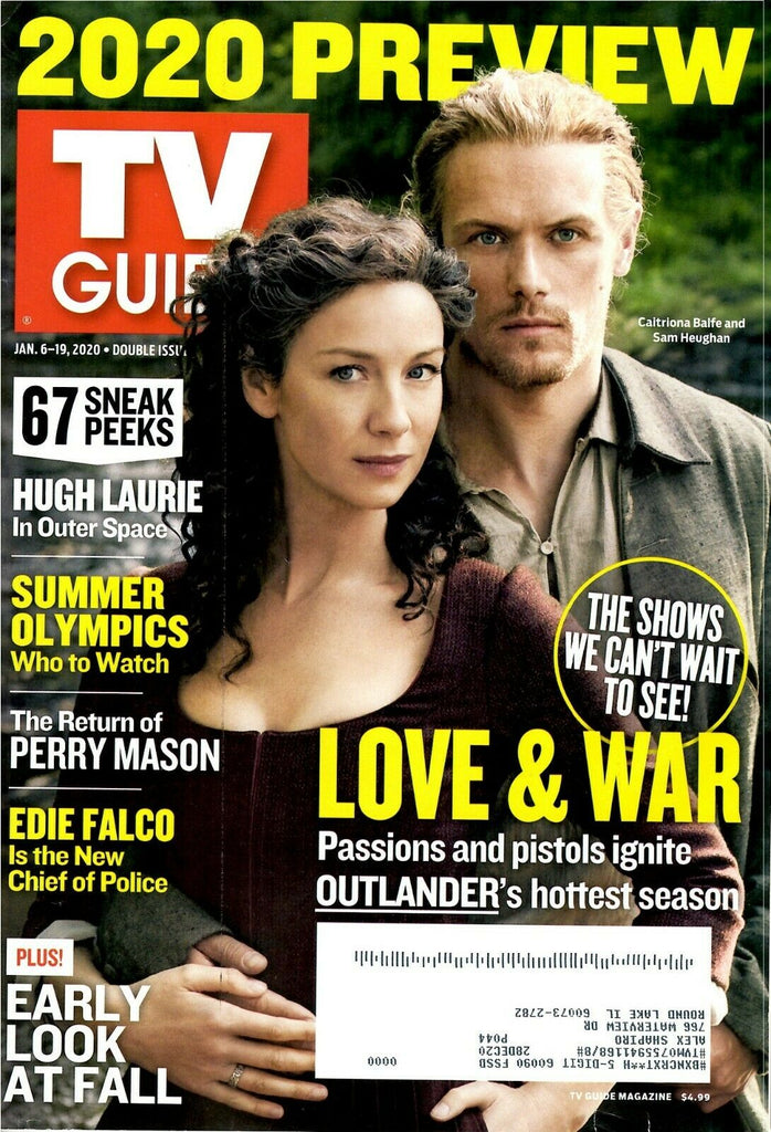 TV Guide January 6-19, 2020 SAM HEUGHAN CAITRONA BALFE COVER