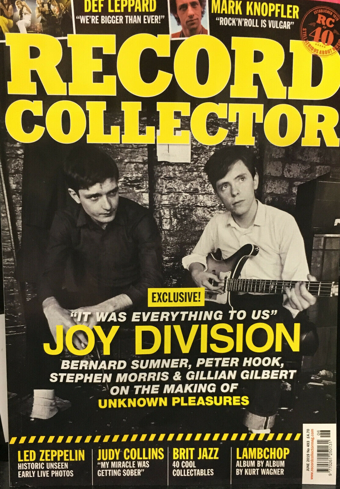 RECORD COLLECTOR Magazine June 2019 JOY DIVISION DEF LEPPARD MARK KNOPFLER