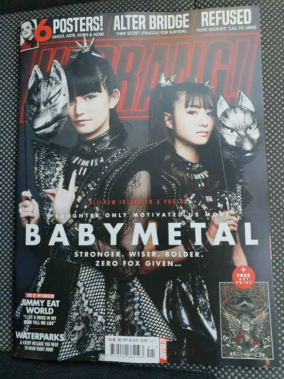 KERRANG! Magazine October 2019: BABYMETAL COVER & FEATURE - GHOST POSTER