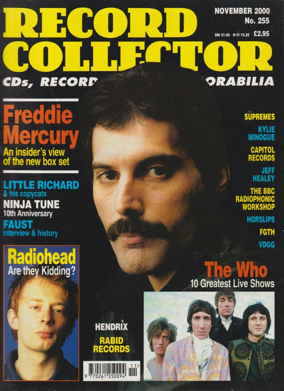Record Collector Magazine - November 2000 (No. 255) Freddie Mercury, The Who