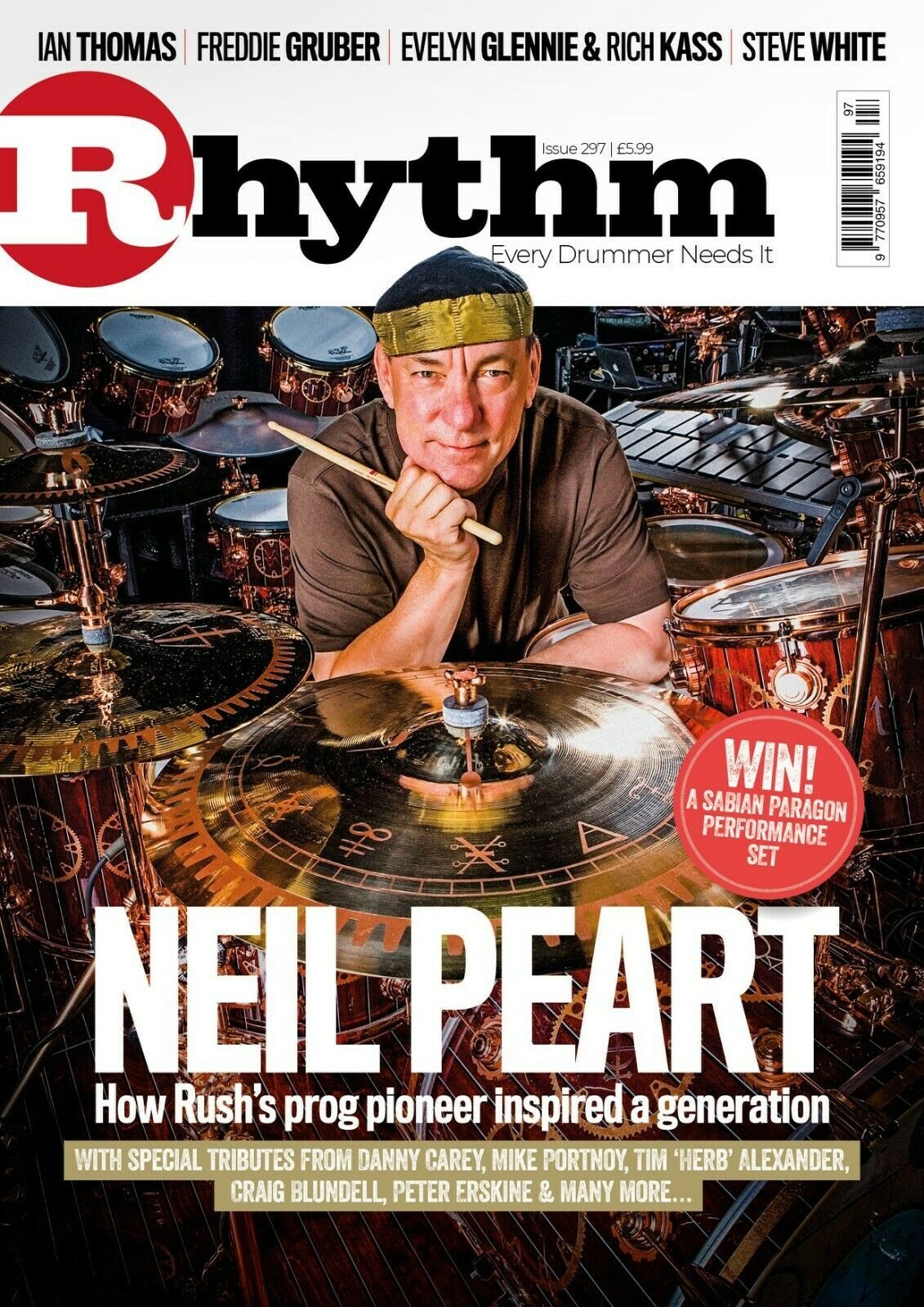 UK Rhythm Magazine December 2020: NEIL PEART TRIBUTE Rush