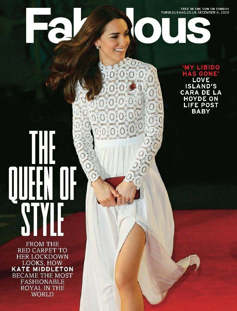 UK Fabulous Magazine December 2020: Kate Middleton Duchess of Cambridge