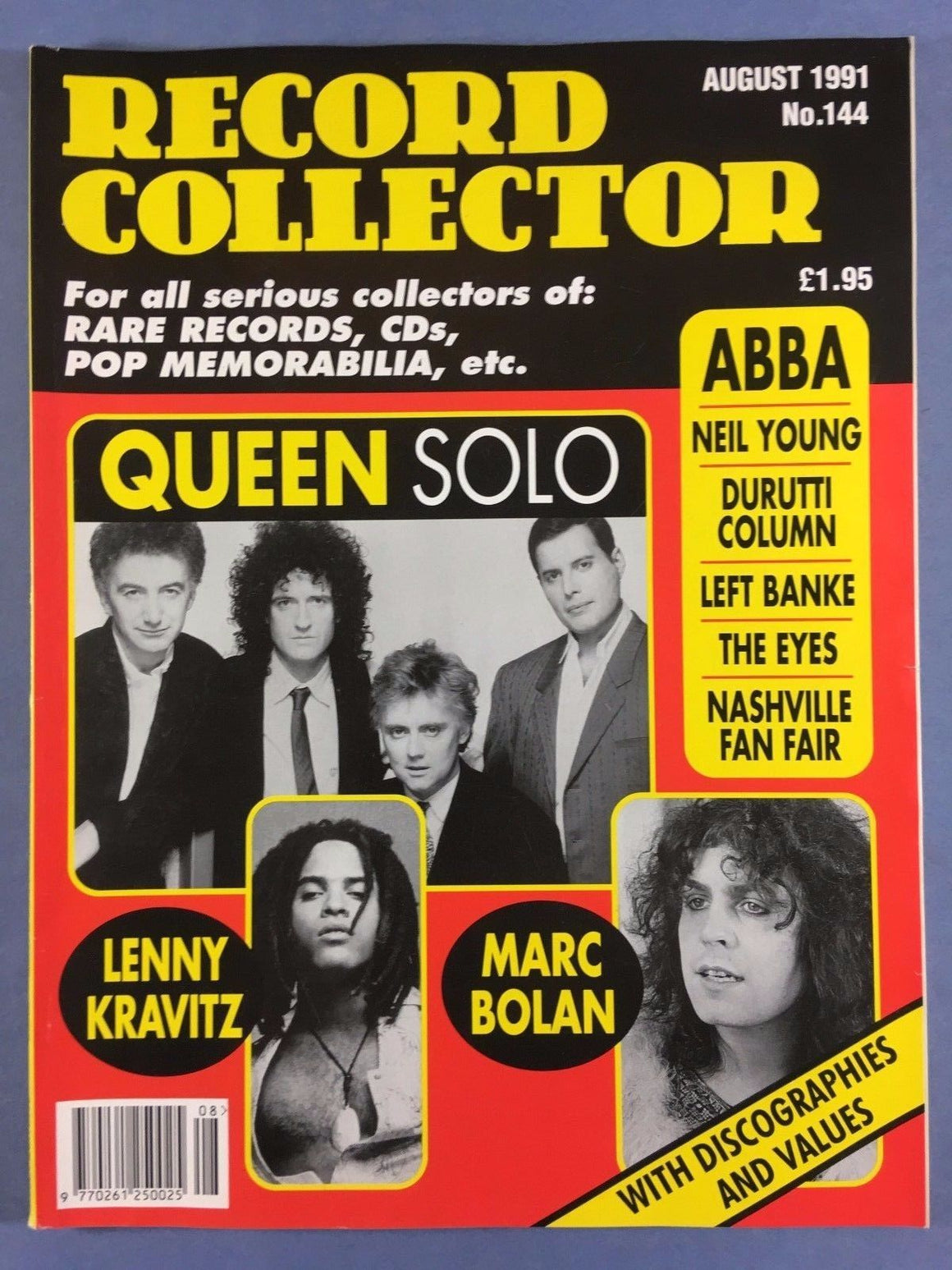 RECORD COLLECTOR (August 1991) QUEEN - FREDDIE MERCURY - ABBA