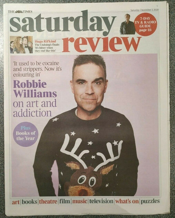 UK Times Review December 2020: ROBBIE WILLIAMS COVER FEATURE