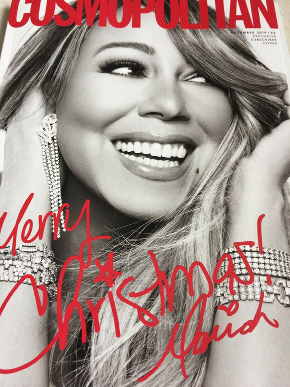 UK Cosmopolitan December 2019: Mariah Carey Christmas SUBSCRIBER COVER