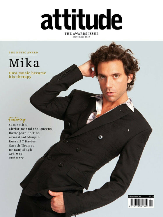 UK ATTITUDE magazine November 2019 MIKA cover & interview