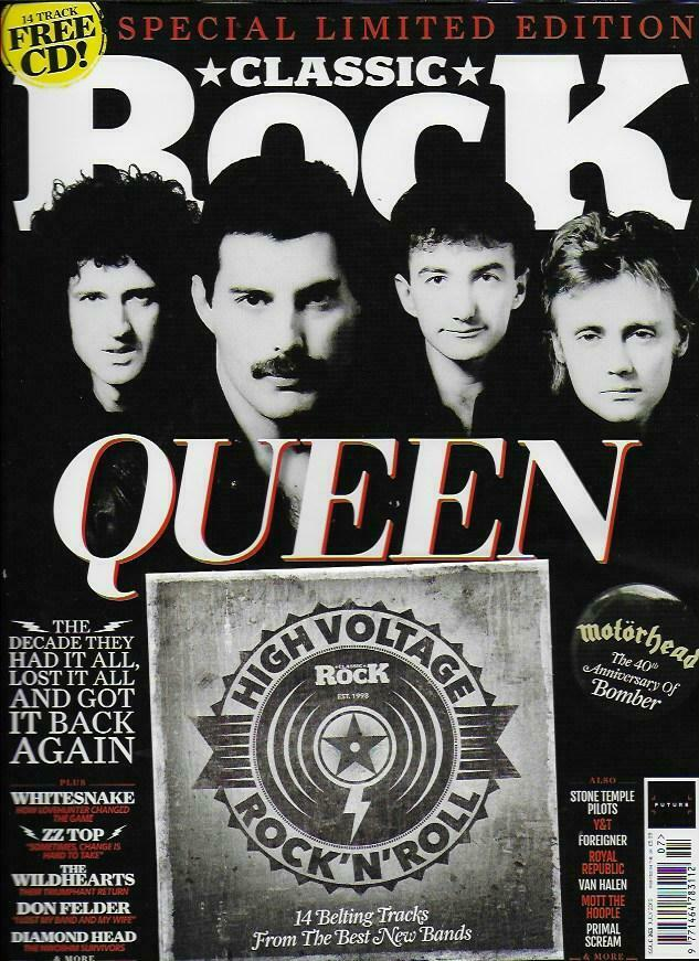 UK CLASSIC ROCK Magazine July 2019: QUEEN (Freddie Mercury) Limited Edition Cover