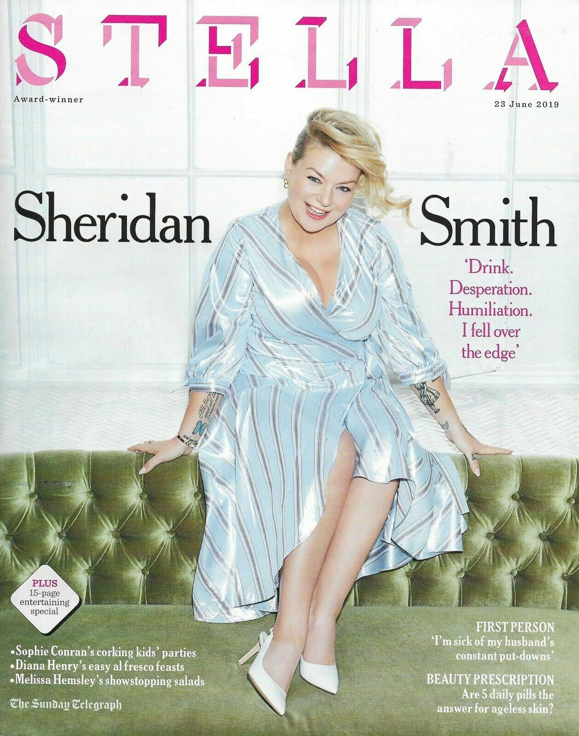 STELLA Magazine June 2019: SHERIDAN SMITH PHOTO COVER INTERVIEW