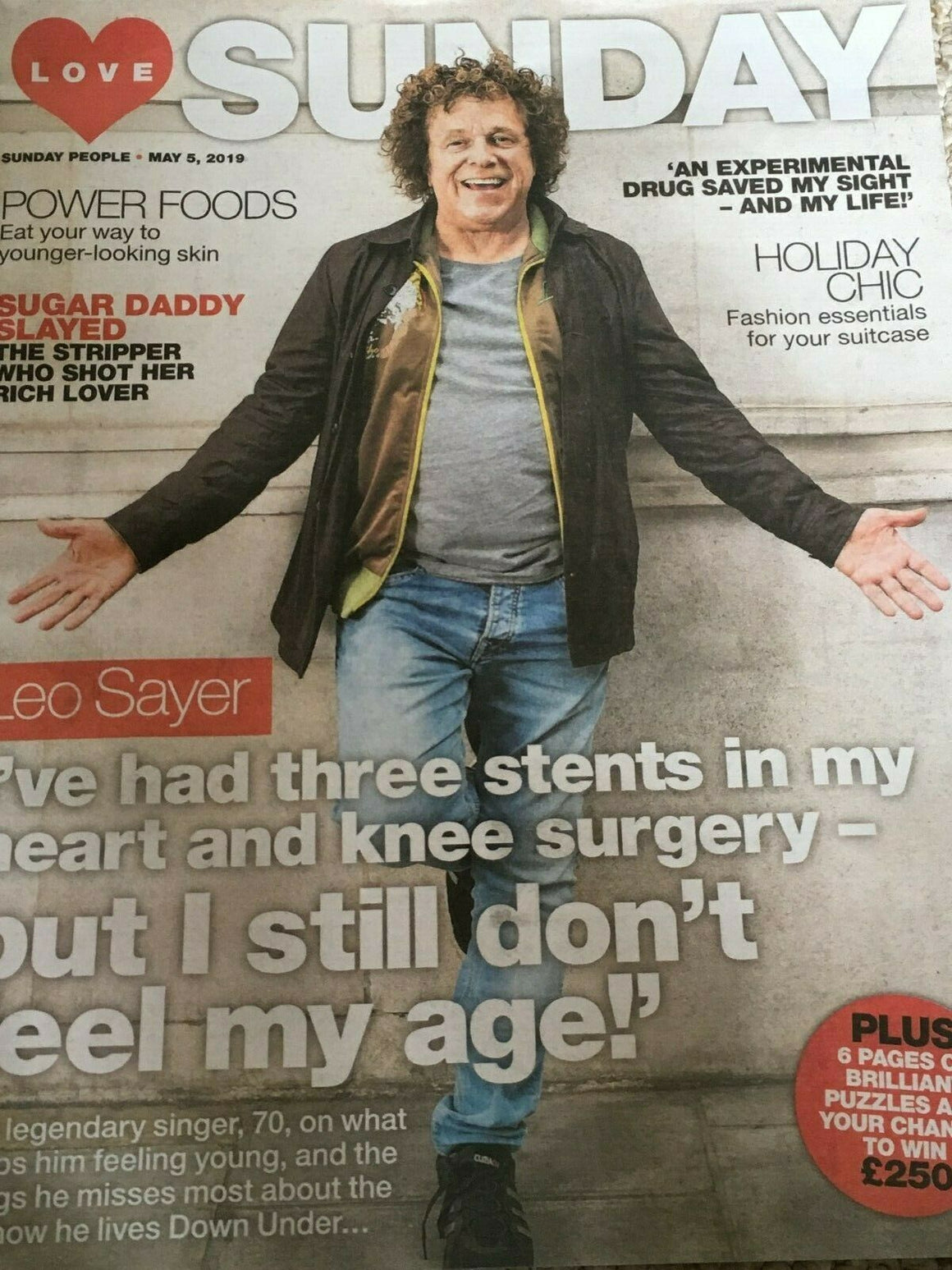 New UK Leo Sayer Love Sunday Magazine Cover Interview May 2019